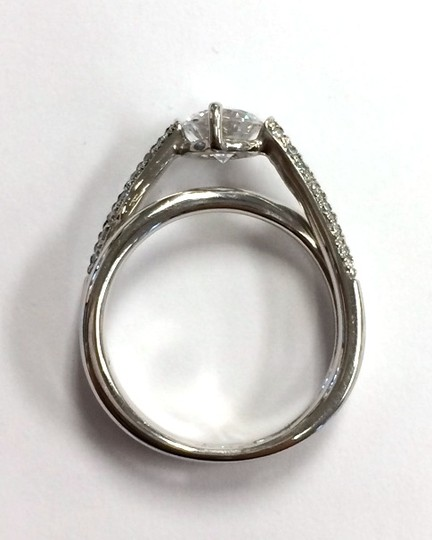 Double Twist Pave Engagement Ring