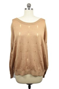 Lucca Couture Distressed Edgy Sweater