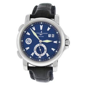 Ulysse Nardin Authentic Mens Ulysse Nardin Dual Time Big Date 243-55 Steel Automatic