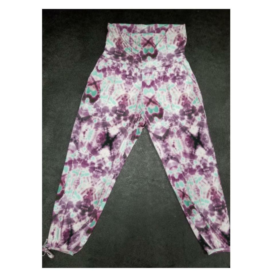e46ad6b2eabde Onzie Purple and Green Tie Dye Gypsy Flow Activewear Bottoms Size 10 ...