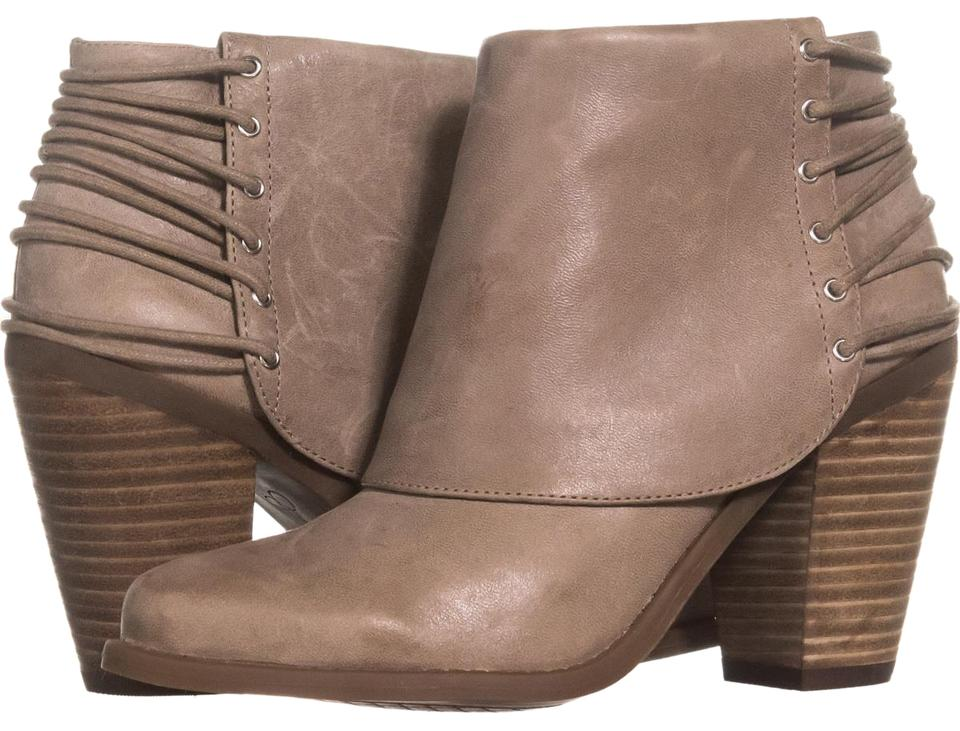 Jessica Simpson Brown Caysy Back Taupe Strapped Ankle 273 Slater Taupe Back U Boots/Booties 7c74ab