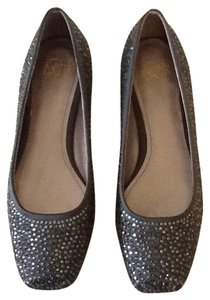 Joan & David Chrystal Studded Dressy Charcoal grey Flats