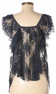 Free People Floral Hi Lo Sheer Lace Top