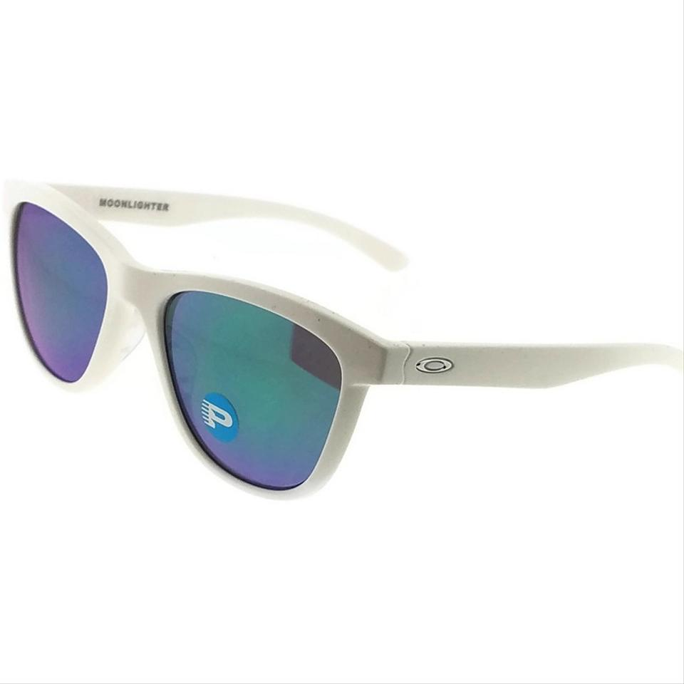 a5260dd2be Oakley OO9320-06 Moonlighter Women White Frame Jade Lens Polarized  Sunglasses Image 0 ...