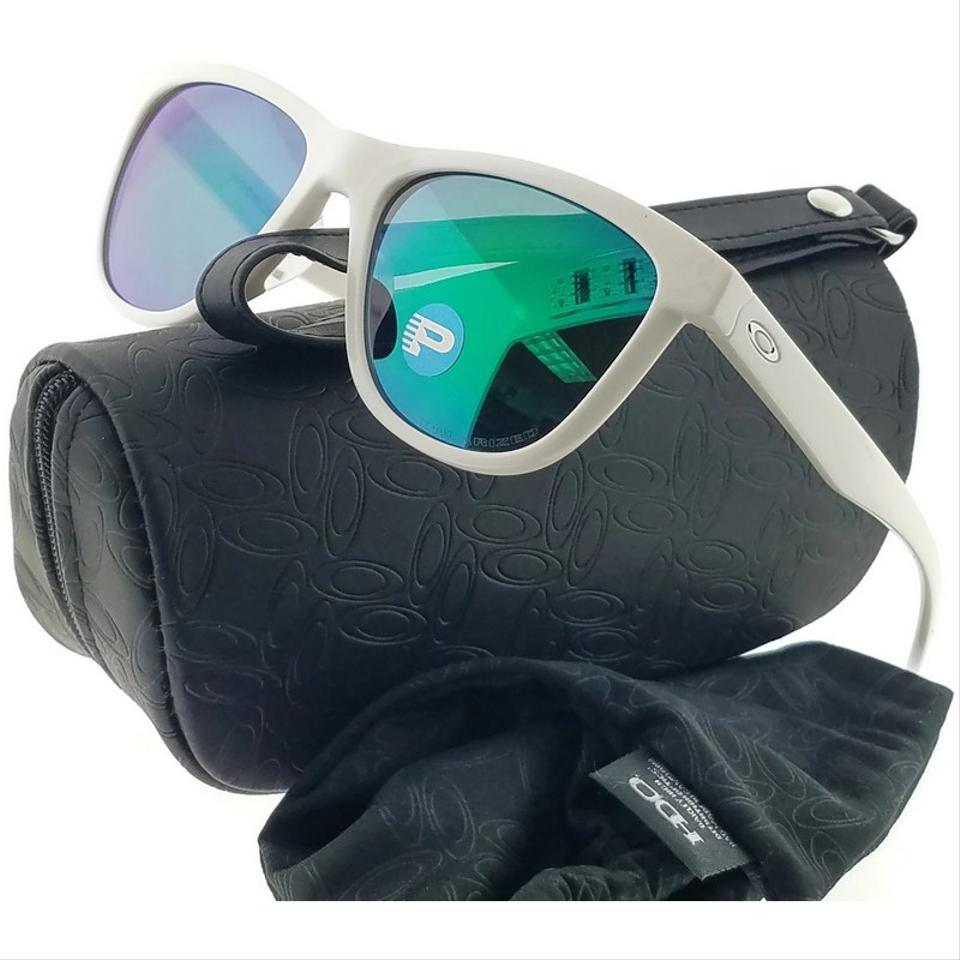6ca564f680 Oakley OO9320-06 Moonlighter Women White Frame Jade Lens Polarized  Sunglasses Image 2. 123