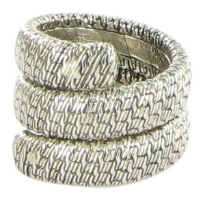 John Hardy Classic Chain Double Coil Ring RB99964X7 Sterling Silver Sz 7