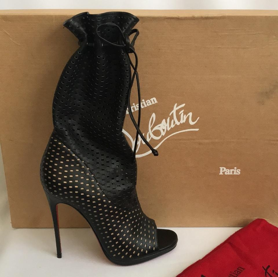 hot sale online d106b 4fb6c Christian Louboutin Black New Jennifer 120 Mm Boots/Booties Size EU 36  (Approx. US 6) Regular (M, B)