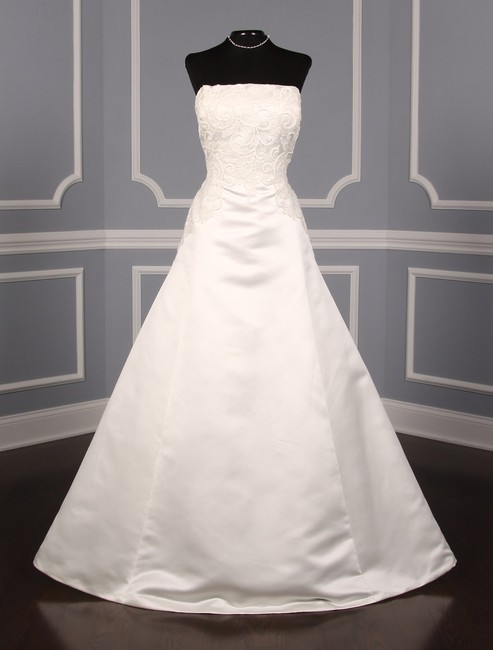 Item - Diamond White Satin Bongani Formal Wedding Dress Size 14 (L)
