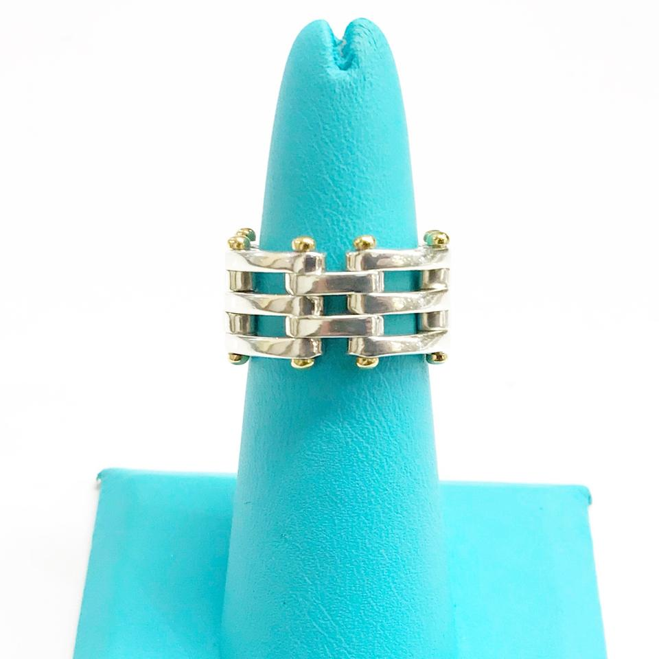 cdd4f16ee Tiffany & Co. Gate Link Two-tone Ring - Tradesy