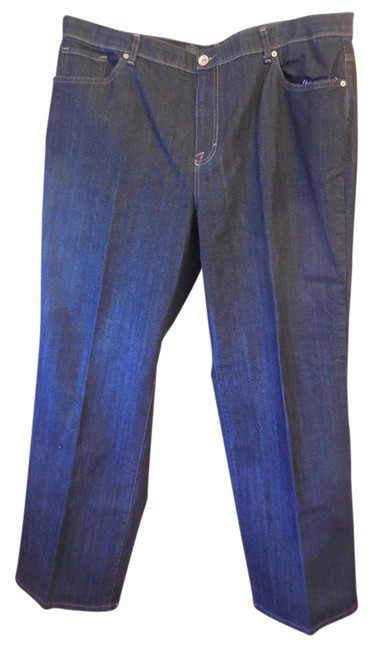 Style & Co Plus-size Casual 5 Pocket Boot Cut Jeans-Dark Rinse