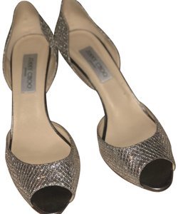 Jimmy Choo champagne and silver Formal