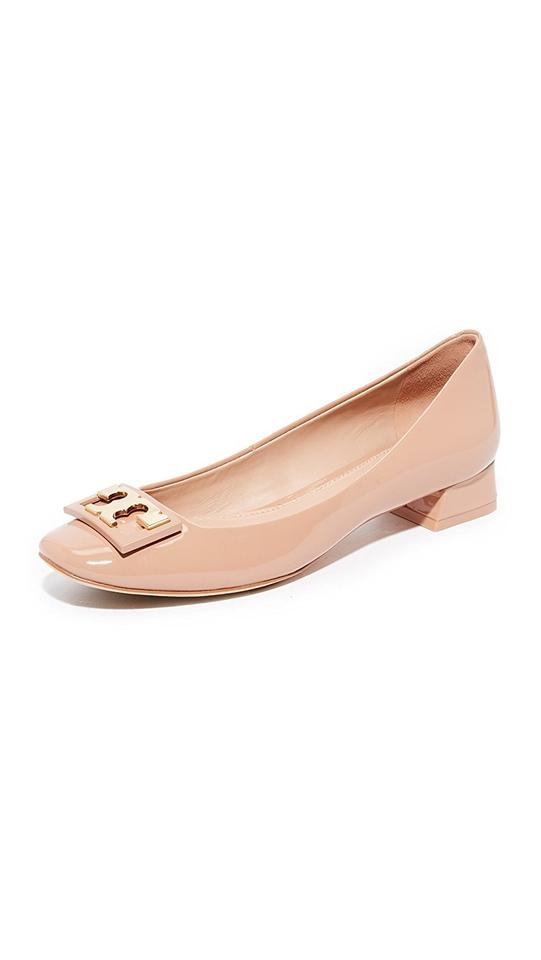 Tory Leather Burch Beige Gigi Patent Leather Tory Pumps b51e91