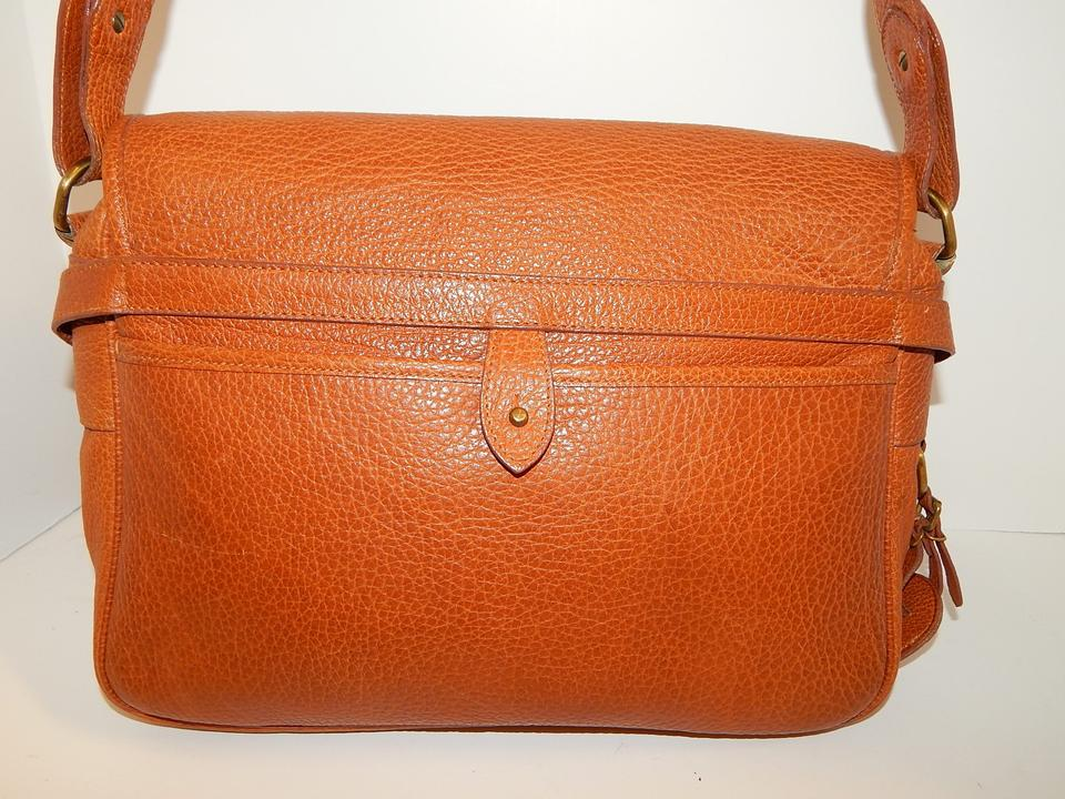 5262bc302bc6 Polo Ralph Lauren By Brown Crossbody Cognac Leather Messenger Bag ...