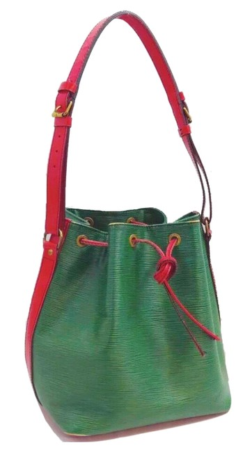 Item - Noé Pm Red/Green Leather Hobo Bag