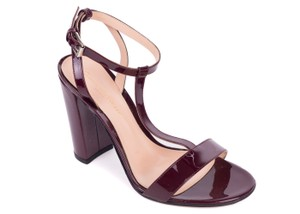 Gianvito Rossi Burgundy Sandals