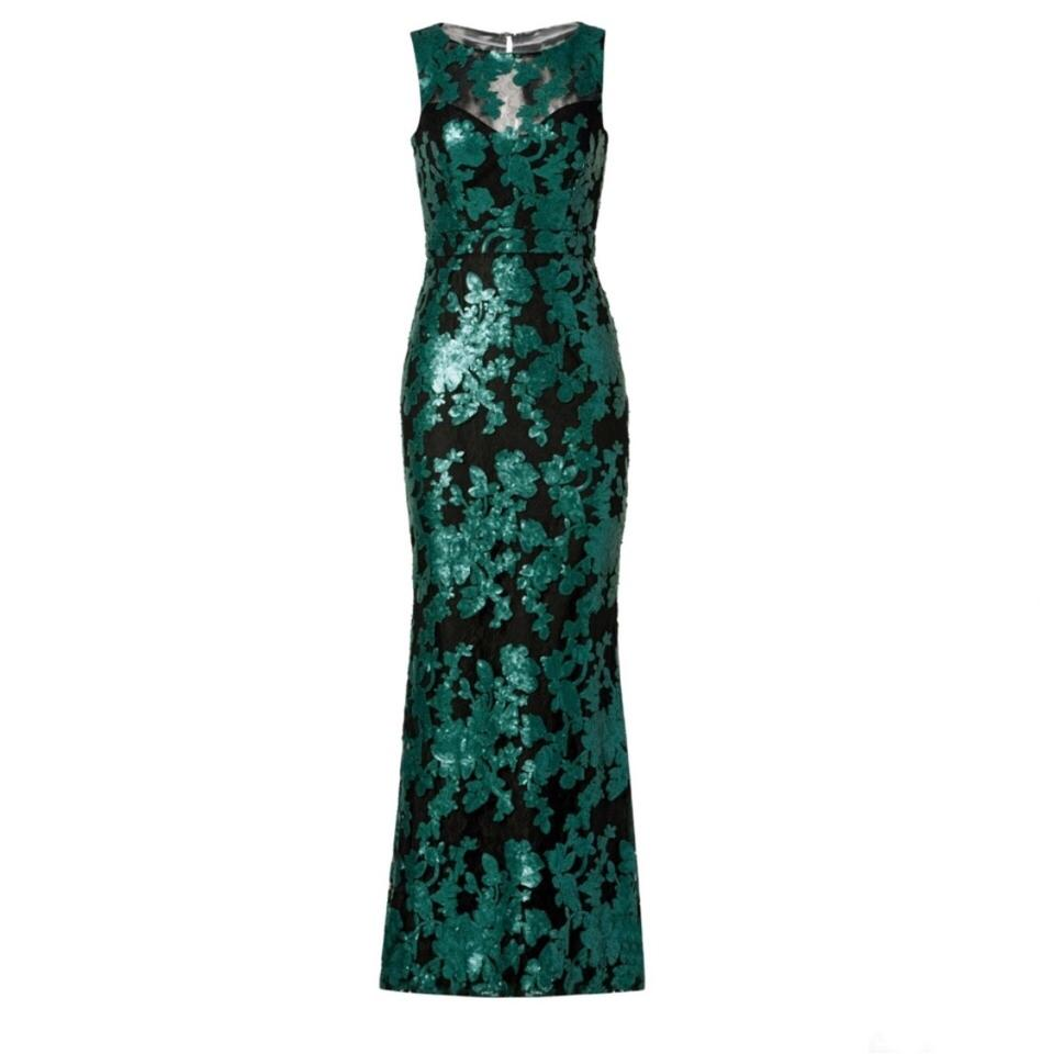 Badgley Mischka Black & Green And Sequin \