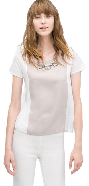 Preload https://img-static.tradesy.com/item/23224158/zara-jeweled-neckline-tee-shirt-size-8-m-0-1-650-650.jpg