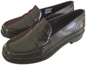 24e9e6e407f Hunter Dark Slate Waterproof Penny Loafers Flats Size US 7 Regular ...