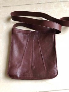 cf65bb0fee55 Hermès Toudou Pochette Burgundy Lambskin Leather Cross Body Bag