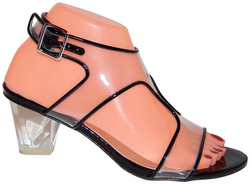 Stuart Weitzman Clear W Lucite Heel See All Sandals Size US 7 ...