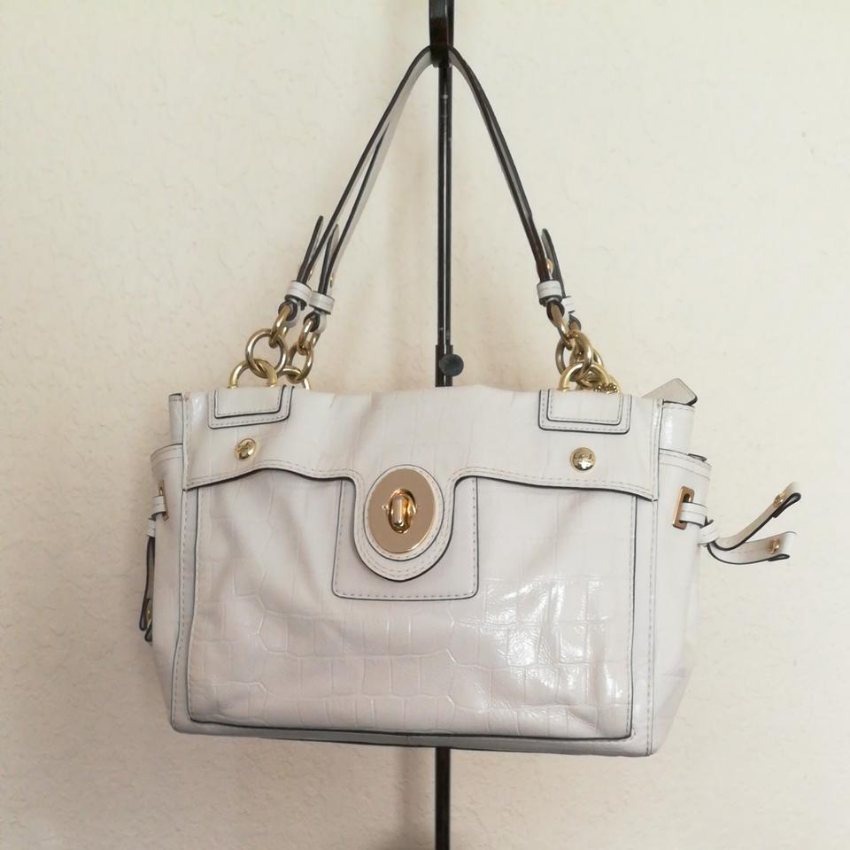 Coach Satchel in Ivory/White/Off-White ...