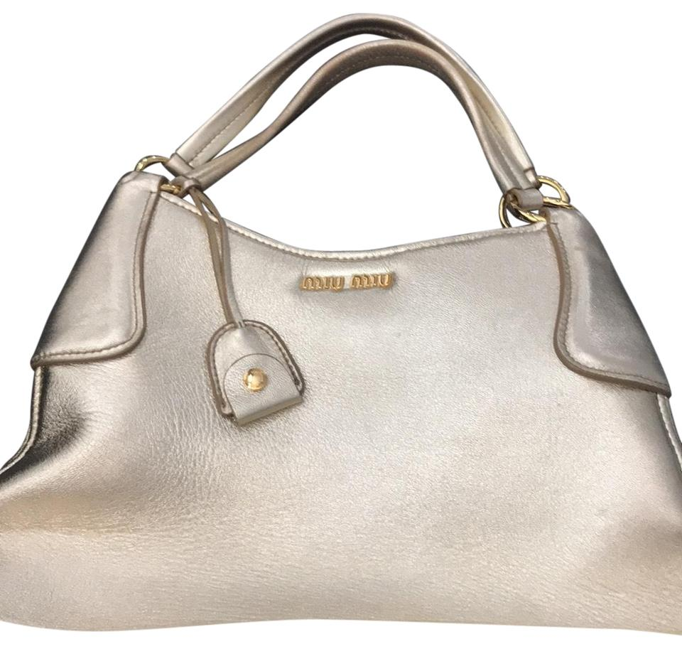 3385b5a0cff8 Miu Miu Large Metallic Shoulder Bag - Tradesy