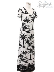 White Black Maxi Dress by Tommy Bahama