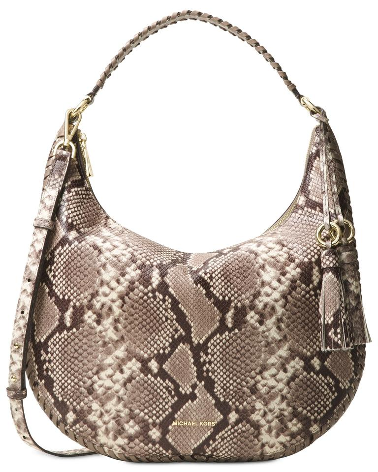 Michael Kors Lauryn Large Embossed Leather Hobo Crossbody Swingpack Shoulder  Bag Image 0 ... b9ccad9ce1ef2