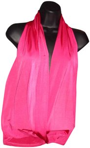 Frederick's of Hollywood Sexy Deep V Neck Top Fuschia Pink