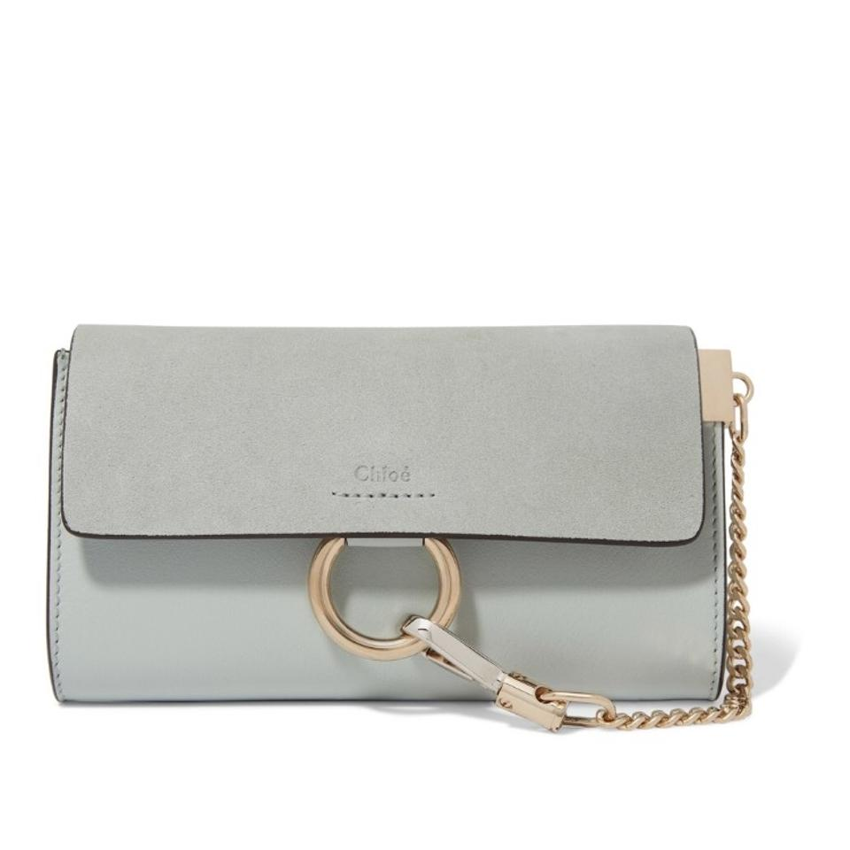 0991677e3f Chloé Faye Mini Wallet On Strap Airy Grey Cross Body Bag