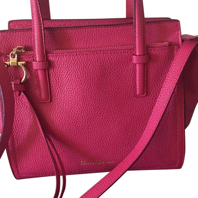 Item - Framboise Spring Collection with Cross Body Strap Pink Lambskin Leather Satchel