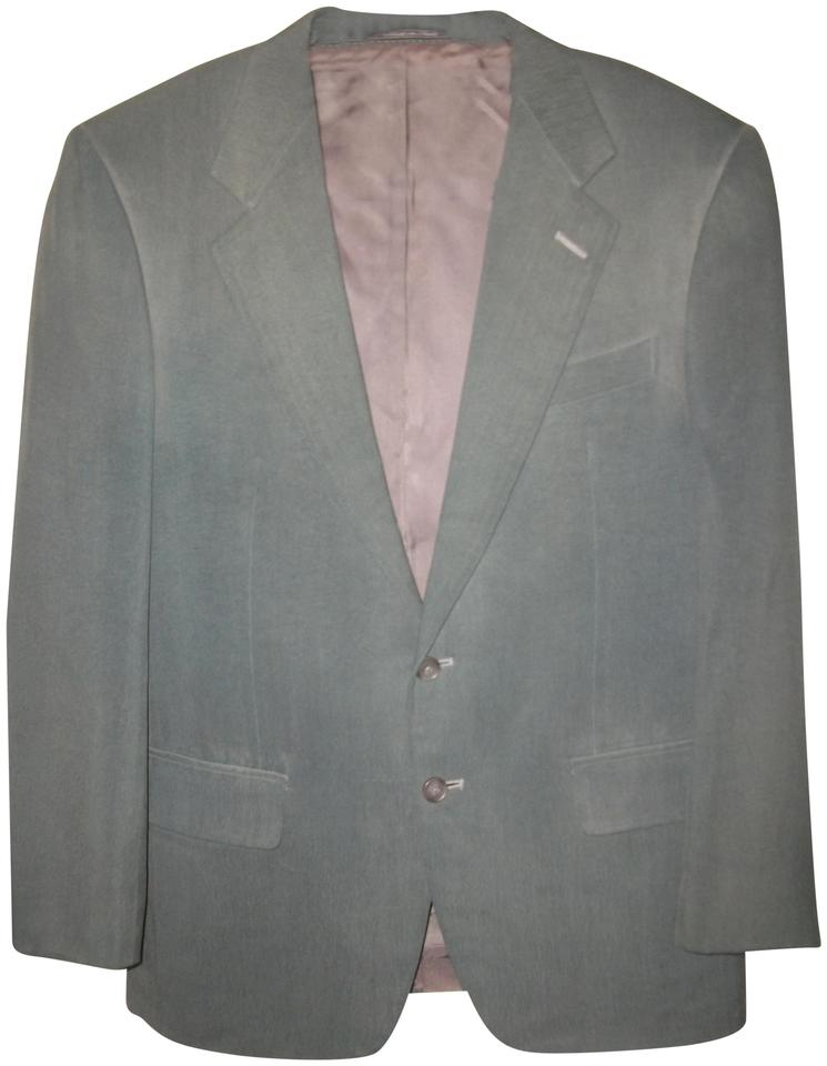 87b88a17 Ermenegildo Zegna Green Men's Silk 2 Button Sport Coat 40r Jacket Size 12  (L)