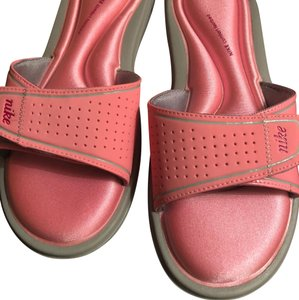 Nike pink gray Sandals