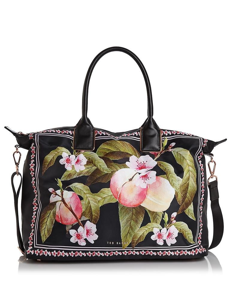 a2992df4e25 Ted Baker Rubiaa Peach Blossom Large Tote Black Polyester; Trim ...