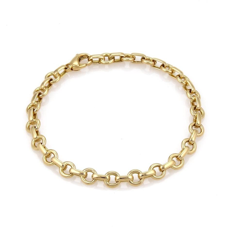 Tiffany Amp Co 18k Yellow Gold Oval Round Chain Link