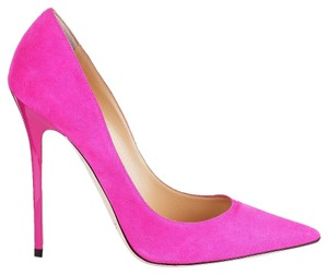 Jimmy Choo Leather Suede Stiletto Hot Pink Fuchsia Pumps