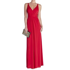 BCBGMAXAZRIA Gown Openback Vneck Prom Dress