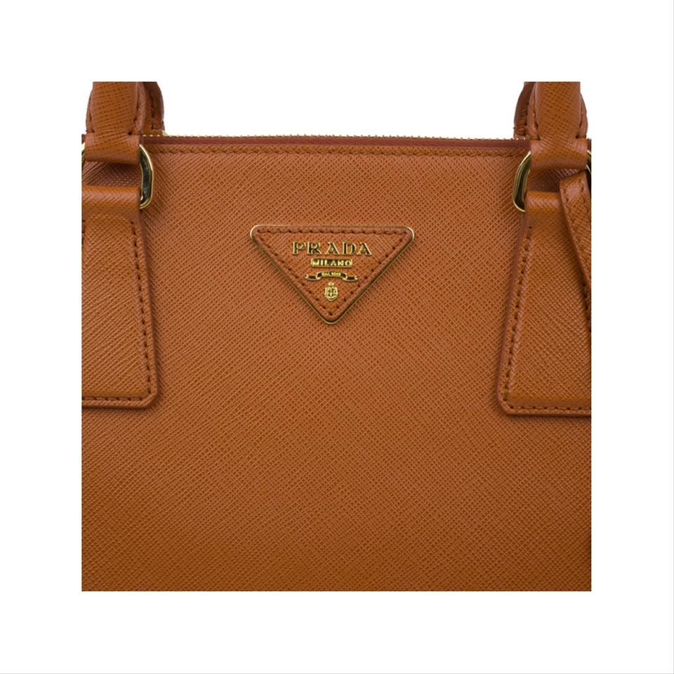 60da96bb0cd9cb Prada Double Saffiano Small Double-handle Trapezoid Orange Leather ...