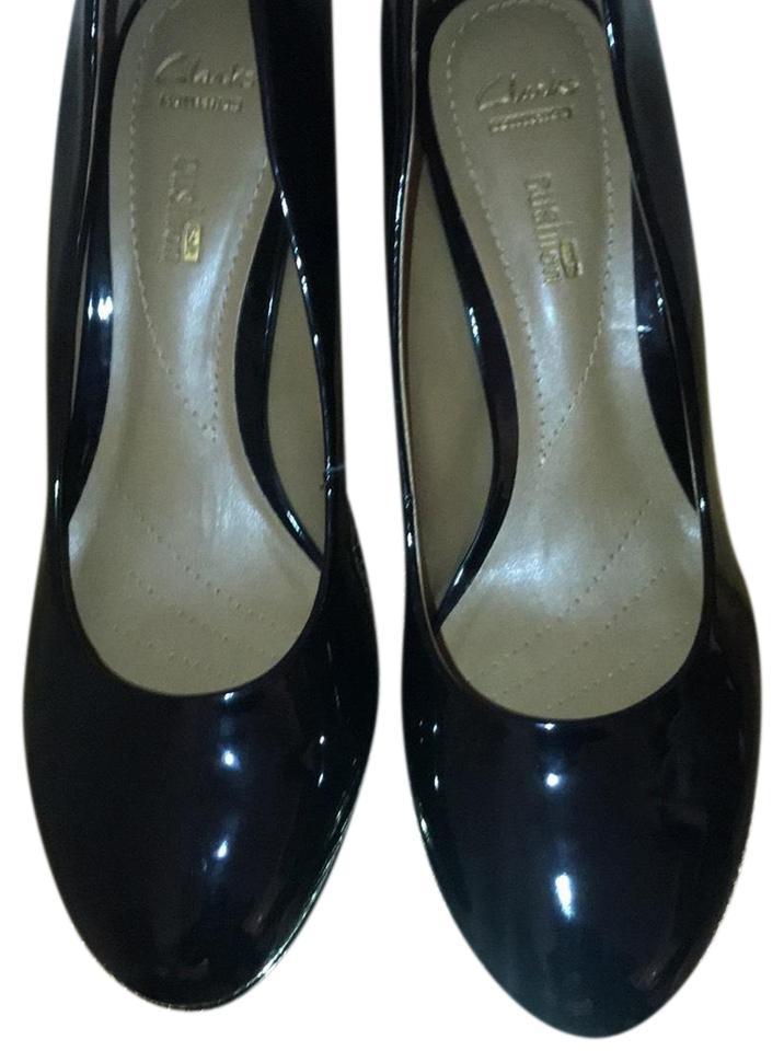 4fac01fd91e Clarks Black Brier Dolly Faux Patent Pumps Size US 8 Regular (M
