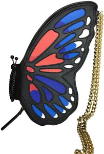 Kate Spade #wingit #butterfly #monarch #rare Black, White, Red, Blue Clutch