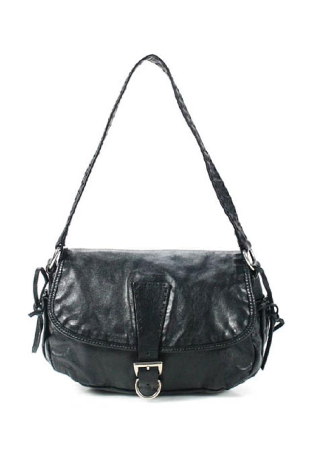 d65dcf866d19 Prada Buckled Front Drawstring Sides Popular Style High-end Bohemian Chrome  Hardware Shoulder Bag ...