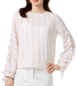 ebe9aa871291c Vince Camuto Top pink. Vince Camuto Pink Tie Sleeve Blouse ...