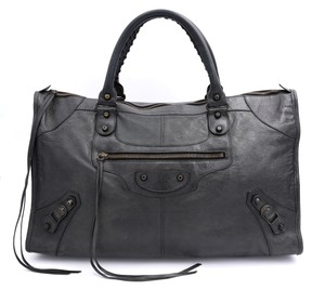 Balenciaga City Satchel in Dark grey