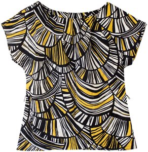 Trina Turk Tribal Print Tribal Print Top Black, White, Gold