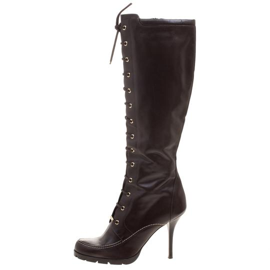 Preload https://img-static.tradesy.com/item/23227045/dior-brown-leather-lace-up-knee-high-bootsbooties-size-eu-41-approx-us-11-narrow-aa-n-0-0-540-540.jpg