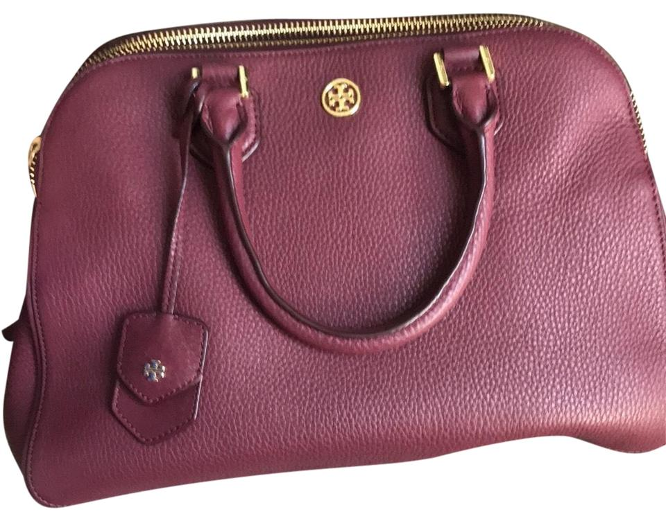 Pebbled Zipper Shoulder Burch Purple Bag Leather Triple and Berry Colored Body Tory Cross wXaEq8w