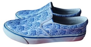 Chanel White with blue pattern Athletic