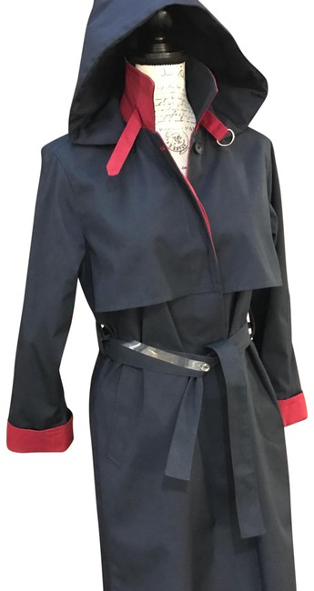 Item - Blue with Red Accents Rain Coat Size 8 (M)