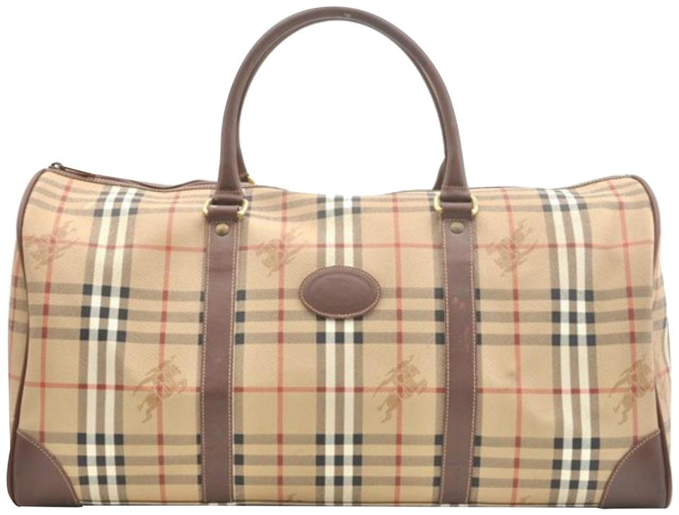 3f15453aae85 Burberry Nova Check Boston Duffle 866558 Beige Canvas Satchel - Tradesy