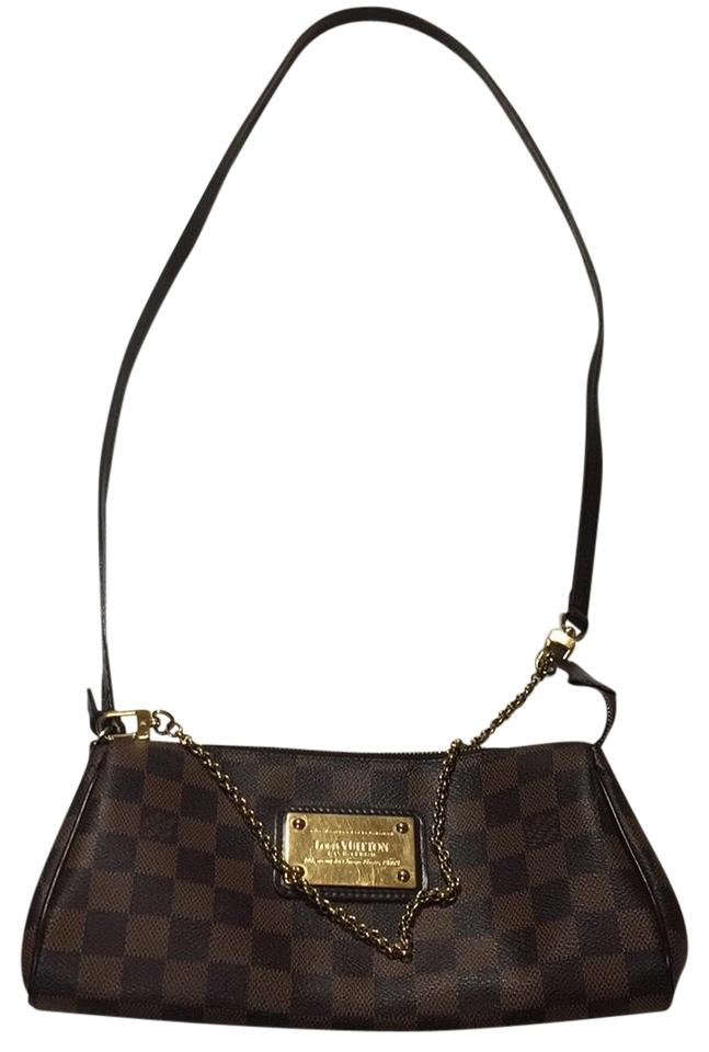 d9036c5189c5 Louis Vuitton Eva Clutch Cross Body Damier Ebene Brown Canvas ...
